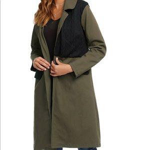Reborn Olive Green and Black long jacket
